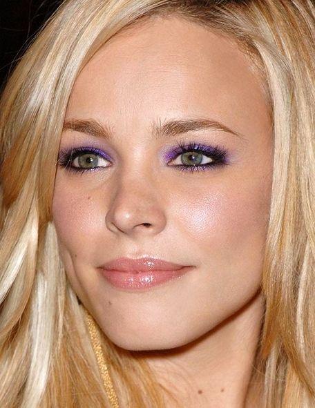 Cool purple makeup