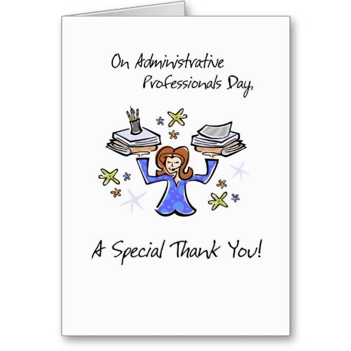 Cute Administrative Assistant Day Card! Show your appreciation!
