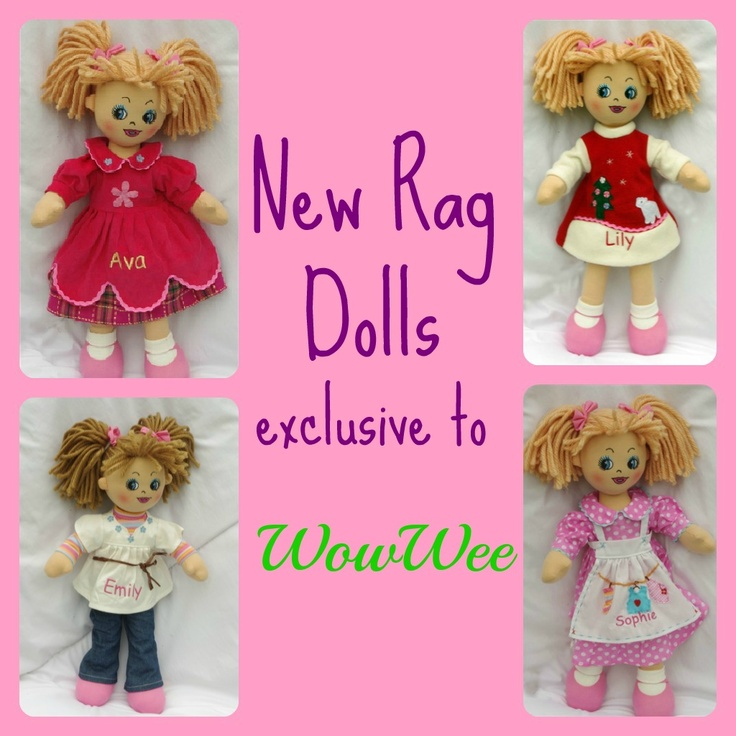 New & Exclusive Rag Dolls to WowWee!