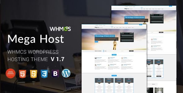 Hosting, Technology, Software And WHMCS Wordpress Theme  - Megahost . We have new HTML with WHMCS Template Integrated available for you  – check it