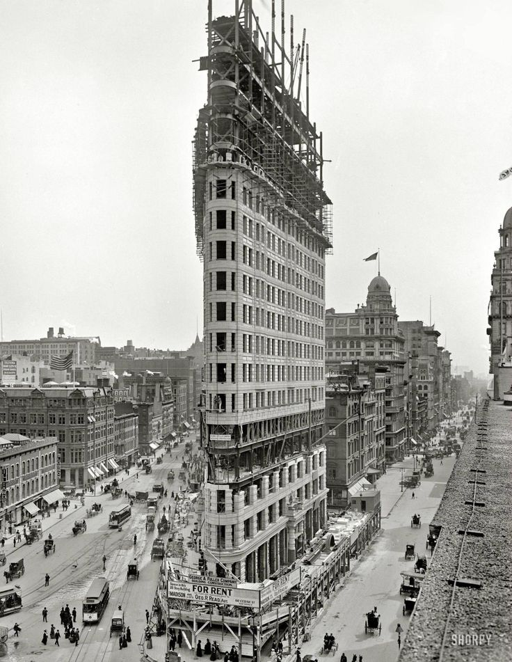 FlatironTime Squares, Historical Photos, New York Cities, New Yorker, Flatiron Buildings, Life Insurance, Under Construction, Flats Iron, The Cities