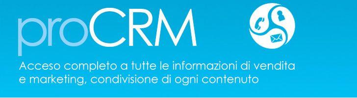 ProCrm è un'applicazione di business, accessibile anche tramite Internet, per aziende di ogni dimensione che offre accesso completo a tutte ...