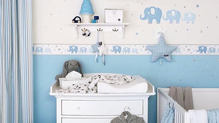 Elefanten blau/grau