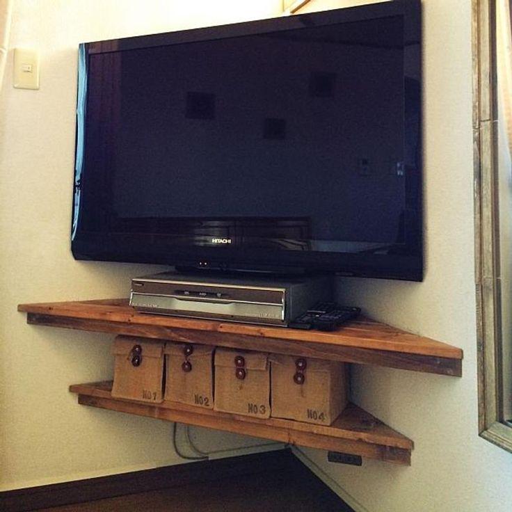 Corner shelvescorner shelfwall shelvesrustic shelves