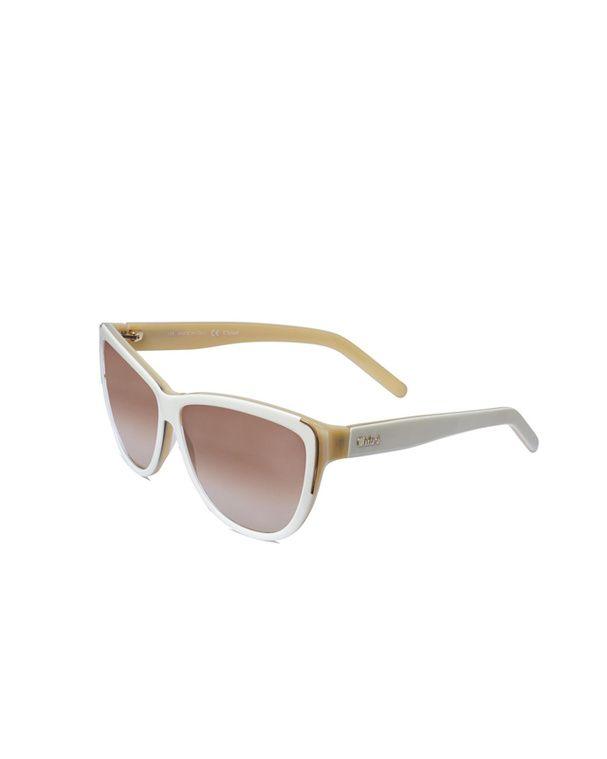 lunettes papillon rtro en actate blanc et beige chlo
