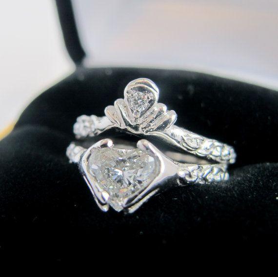 claddagh ring wedding set by ricksonjewellery things i
