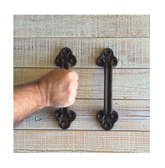 Barn Door Handle  Cast Iron Rustic Big Vintage by TuscanIron