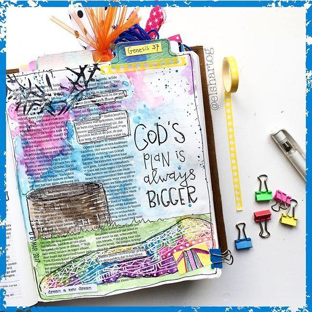 GENESIS 37 | Wat een mooi hoofdstuk met parellen tussen Jozef, Jezus en jou en mij! Wil je meer lezen over wat ik ontdekte? GOD'S PLAN IS BIGGER | Bezoek dan mijn blog (link ☝in profiel) ....of kom in ieder geval morgen even langs als ik voor @bettuelle een gastblog schrijf voor de #biblejournalingchallenge40dagen!#bettuelle #dag6/40 . . . #Illustratedfaith #biblejournaling #biblejournalingnl #creatiefdoordebijbelheen #elshartog #schrijfbijbel #biblejournalingnederland