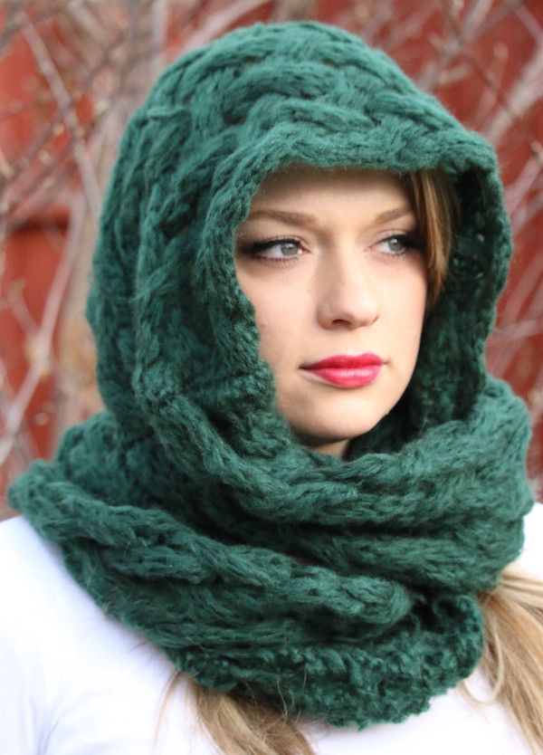 Knitted Wool Snood/Scarf