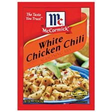 White Chicken Chili - recipe and own spice packet recipe. 1/15