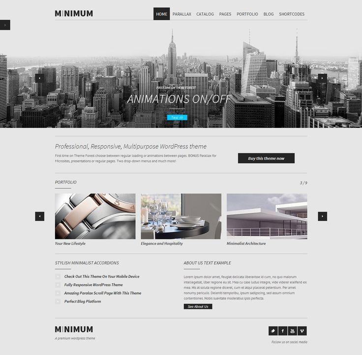 MINIMUM – Professional WordPress Theme http://www.wordpressawards.net/minimum-professional-wordpress-theme/ #professional #wordpress #theme