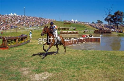 Pippa Funnell of Great Britain on Supreme Rock during the Team Three Day Event Cross Country section at the Sydney International Equestrian Centre on Day Three of the Sydney 2000 Olympic Games