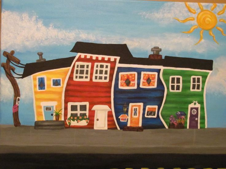 jelly bean house paintings - Google Search