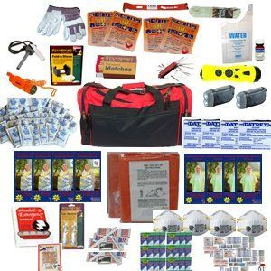 4 Person Perfect Survival Kit Deluxe  Prepare For Earthquake Evacuation Emergency Disaster Preparedness 72 Hour Kits for Home Work or Auto * Visit the image link more details.