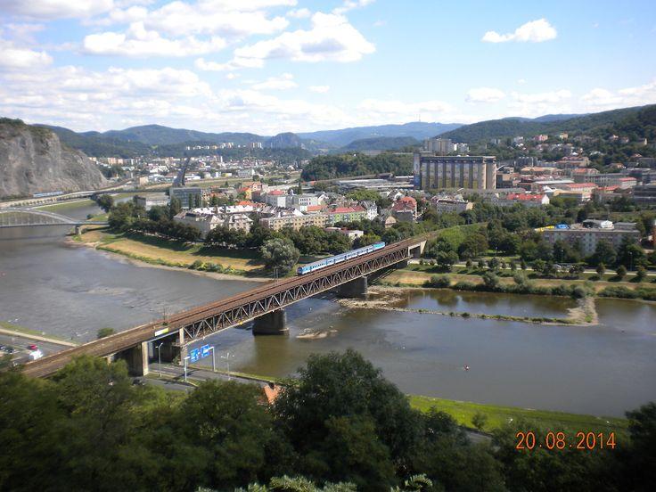 Pohled z Větruše na mosty