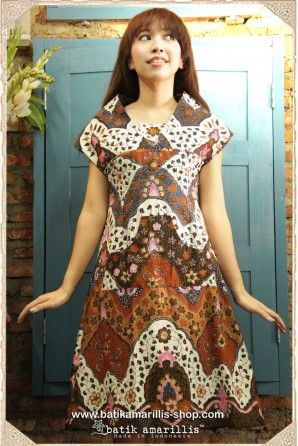 Product Details:  JAVANESE GARDEN SERIES  ♥ Apsara dress ♥  available at www.batikamarillis-shop.com  with our new cutting and style to create a high fashion as it's beautifully structured with unique cutting & style