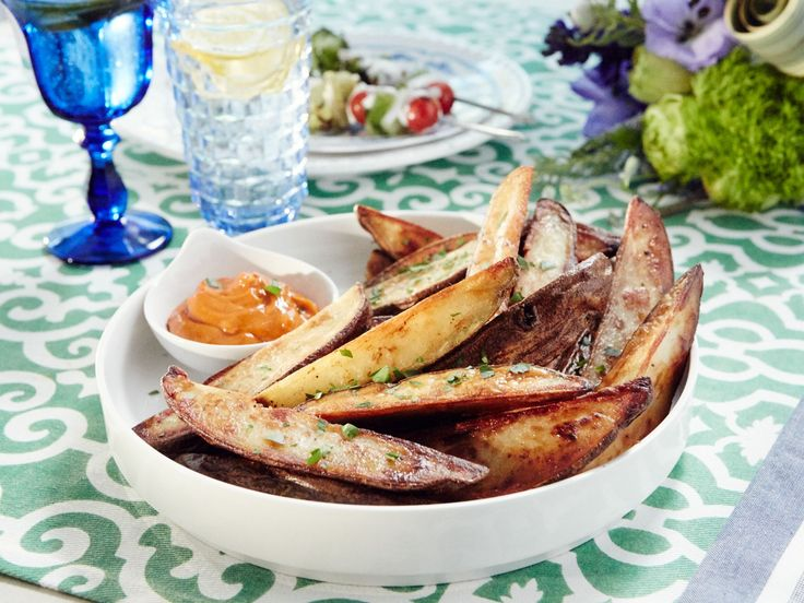 Potato Wedges with Smoky Aioli recipe from Patricia Heaton Parties via Food Network