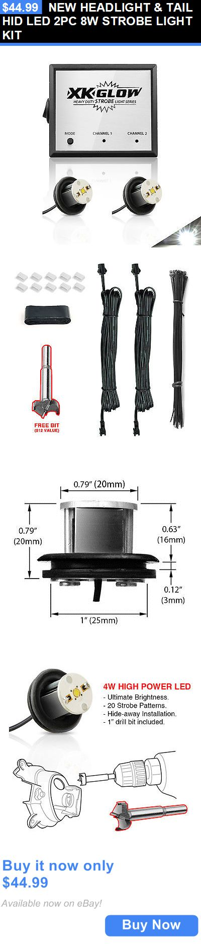 Motors Parts And Accessories: New Headlight And Tail Hid Led 2Pc 8W Strobe Light Kit BUY IT NOW ONLY: $44.99
