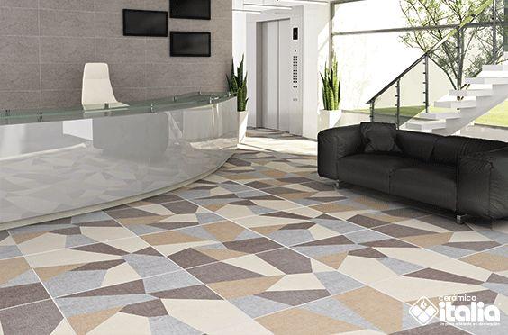Productos cerámicos  con figuras y diseños similares  a la tendencia vanguardista los cuales generan una combinación de textura y textiles con la calidad y garantía que ofrece Cerámica Italia.