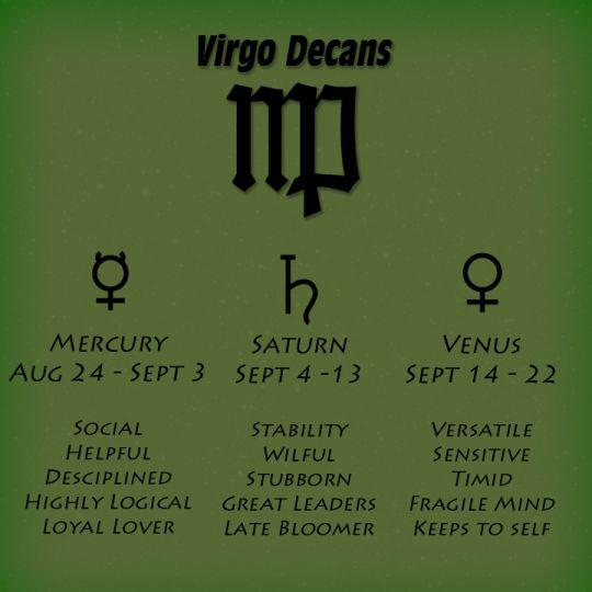 Virgo Decans