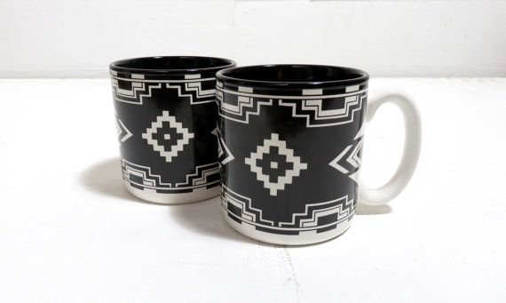 Hey, I found this really awesome Etsy listing at https://www.etsy.com/listing/504340285/vintage-80s-southwestern-black-set-of-2