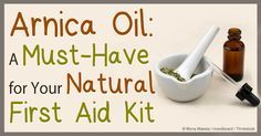 Arnica oil's benefits include relieving pain and helping heal bruises and sprains –  discover its other uses, composition, and why it's a must-have at home.   http://articles.mercola.com/herbal-oils/arnica-oil.aspx