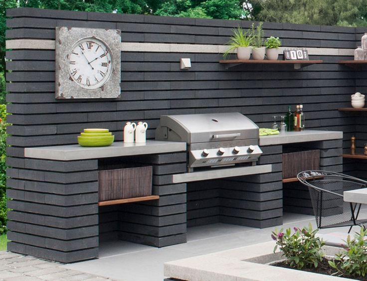 Best 25 built in bbq ideas on pinterest bbq area built for Built in barbecue grill plans