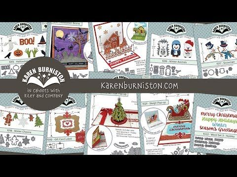 Karen Burniston Summer 2017 Holiday Die Release Available NOW!