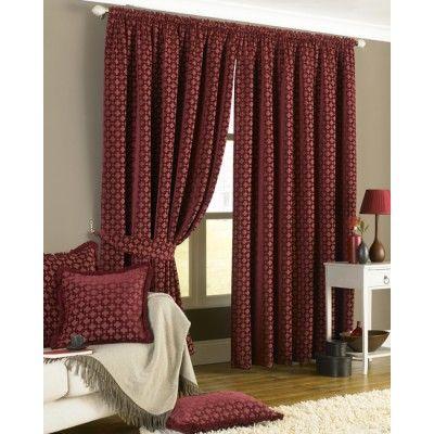 Belmont Claret Pencil Pleat Curtains