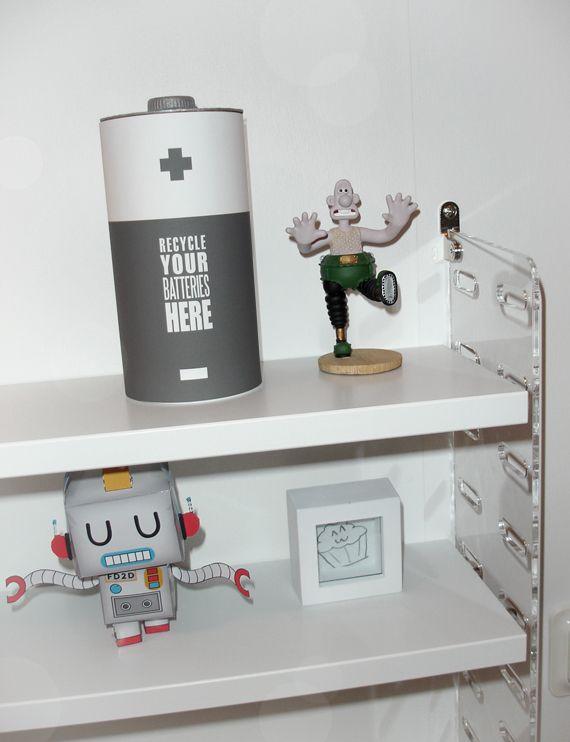 DIY Battery Recycle Bin Tutorial with Free Printable