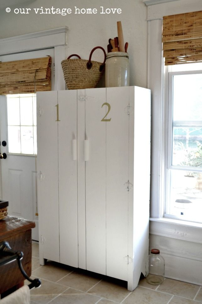 I love @Our Vintage Home Love #vintage #pantry #cupboard - I want - 135 Best Pie Safe's & Vintage Cupboards Images On Pinterest
