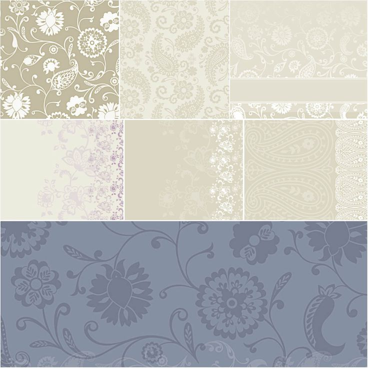 Set of vector wedding backgrounds with pastel