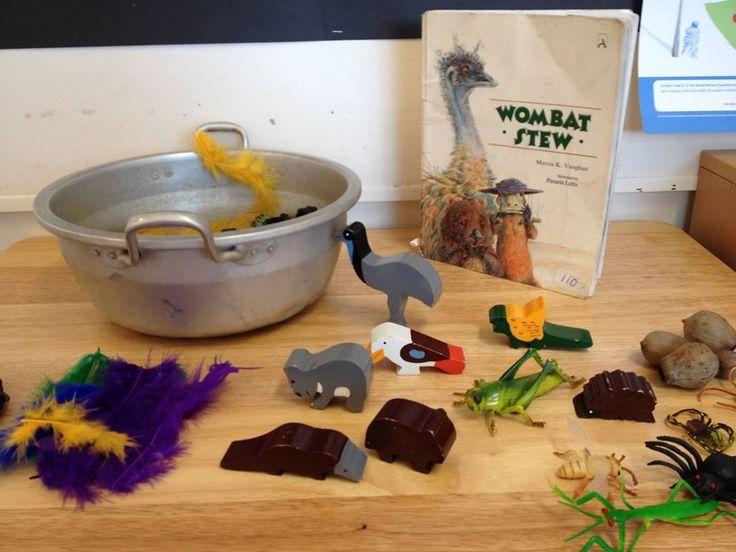 Wombat Stew imaginative play