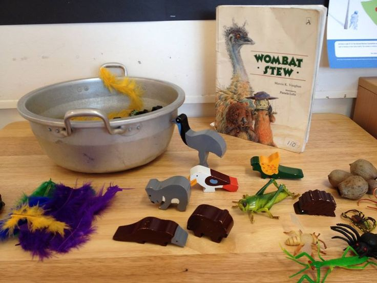 Wombat Stew imaginative play