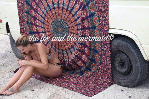 mandala indien tapisserie murale drap de par TheFoxAndTheMermaid