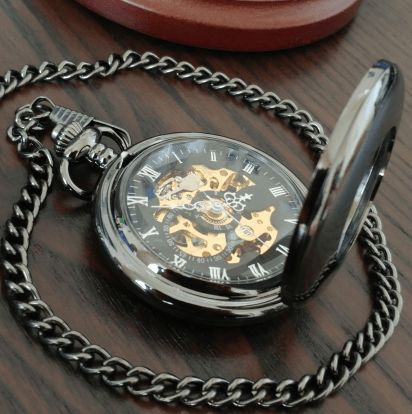 Elegant and durable, this finely crafted skeleton pocket watch will accentuate your outfit exceptionally well. Watches are a powerful tool that not only allow