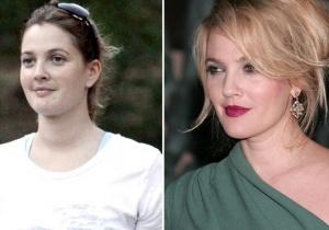 Drew Barrymore sem maquiagem