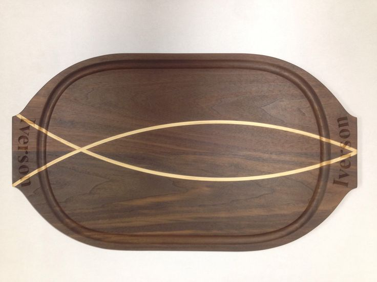 Walnut fish platter black canyon woodworks pinterest Simplisafe z wave