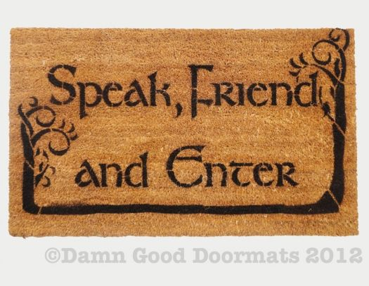 LOTR Tolkien  -Speak, Friend, and Enter- Novelty doormat with trees
