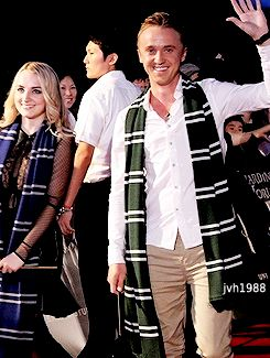 Tom Felton and Evanna Lynch at the Opening of The Wizarding World of Harry Potter in Japan (July, 14)