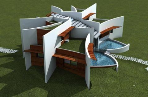 casa pradera: es una casa eco-sustentable apta para todo clima en terrenos planos y firmes