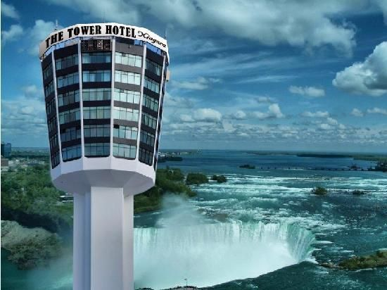 Niagara Falls, Canada. We Honeymooned  in Canada in 1986. The Tower Hotel was then called the Minolta Tower... we ate in the revolving restaurant on the top of the tower, what an experience... with an Incredible view!