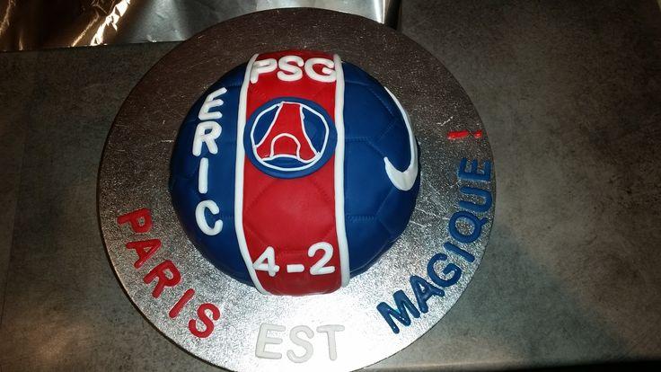 Gateau thème foot equipe PSG