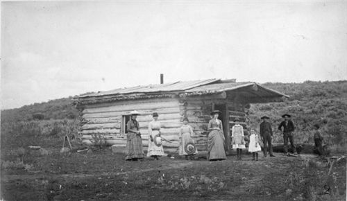 First term of school in Steamboat Springs, Colorado, 1886; from History Colorado Collection