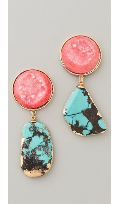 Ohhhhh!!!Colors Combos, Turquoise Earrings, Statement Earrings, Jewelry, Dangle Earrings, Accessories, Adelaide Earrings, Dara Ettinger, Gold Earrings