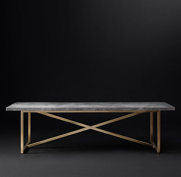 ... Our Table Exemplifies The Cool Minimalism Of Italian Design. Torano  Juxtaposes An Austere X Base Metal Frame With A Clean Edged, Polished Marble  Top.