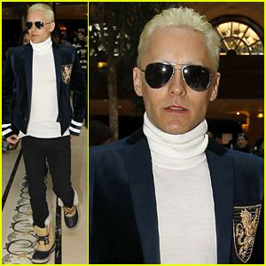 Jared Leto Debuts Platinum Blonde, Short Hair Look (Photos) Jared Leto #JaredLeto