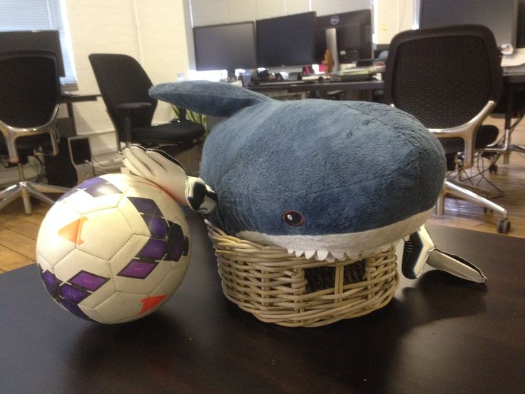 Meanwhile back at FGOL HQ the honorary mascot Blue-Tooth 'saves' himself for today's FIFA 2014 World Cup Final!