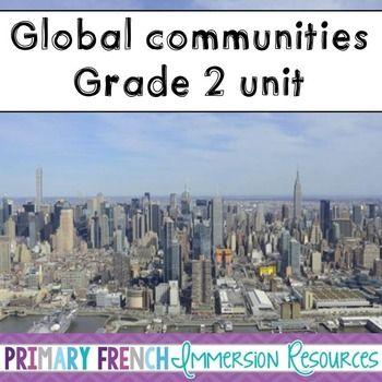 English Grade 2 Global Communities - word wall words, image prompts, and activities! #tpt #teacherspayteachers #grade2