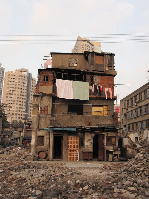 """Demolition of Lane Houses on Caoxiewan Road, Shanghai  """"architectureofdoom:  Demolition of Lane Houses on Caoxiewan Road, Shanghai  """""""